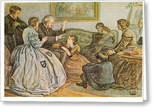 A Christmas Story Greeting Cards - A Christmas Story Greeting Card by John Everett Millais