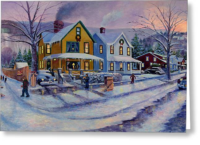A Christmas Story Greeting Cards - A Christmas Story Past Greeting Card by Frederick Carrow
