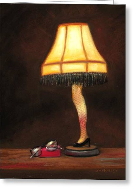 A Christmas Story Greeting Cards - A Christmas Story Greeting Card by Sharon Morley  APS