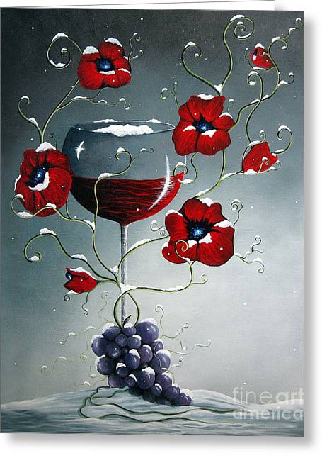 Purple Grapes Greeting Cards - A Christmas To Remember by Shawna Erback Greeting Card by Shawna Erback