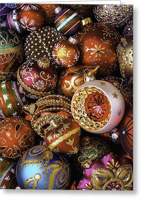 Spheres Greeting Cards - A Christmas To Remember Greeting Card by Garry Gay