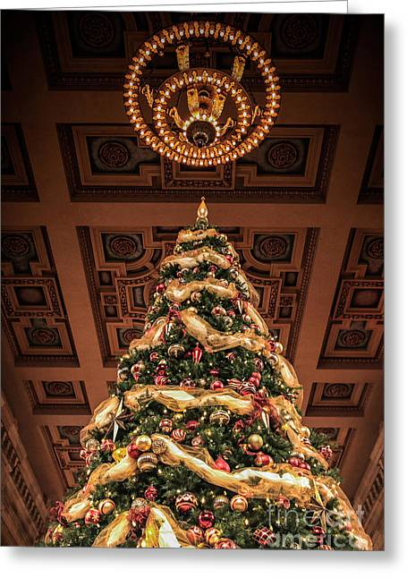 A Christmas Tree At Union Station Greeting Card by Lynn Sprowl