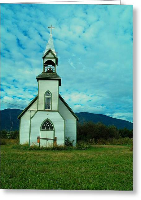 Old Relics Photographs Greeting Cards - A Church In British Columbia   Greeting Card by Jeff  Swan