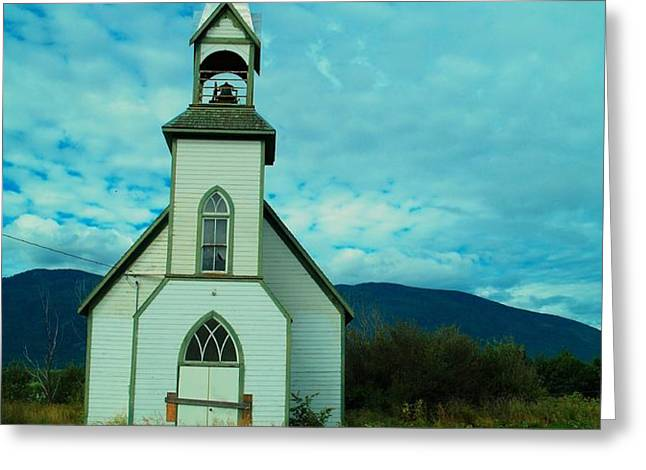 A CHURCH IN BRITISH COLUMBIA   Greeting Card by Jeff  Swan