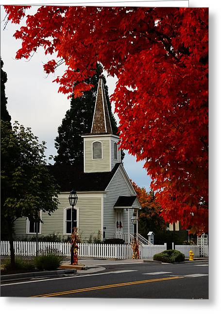 Mick Anderson Greeting Cards - A Church in Historic Jacksonville Greeting Card by Mick Anderson