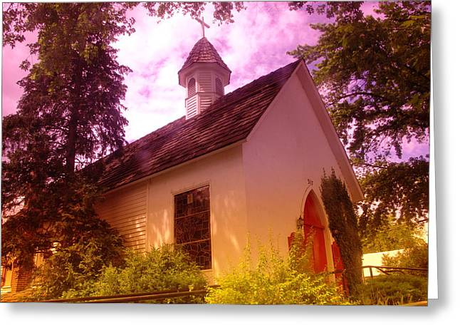 Country Church Greeting Cards - A Church In Prosser Wa Greeting Card by Jeff  Swan
