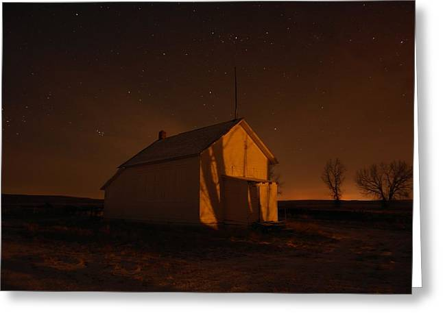 Bare Trees Greeting Cards - A Church Under The Stars  Greeting Card by Jeff  Swan