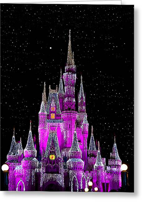 Winter Night Greeting Cards - A Cinderella Night Greeting Card by David Lee Thompson