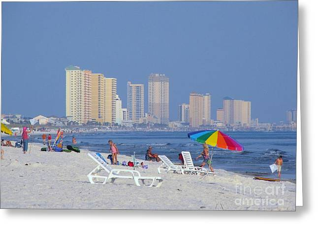Panama City Beach Greeting Cards - A city beyond the beach Greeting Card by Michelle Powell