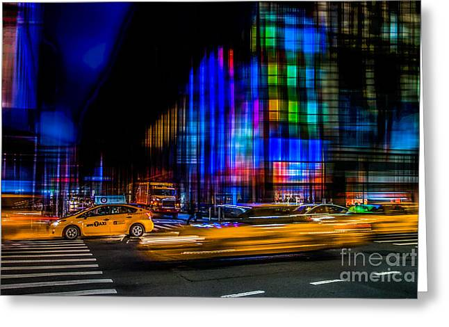 a city full of colors II Greeting Card by Hannes Cmarits