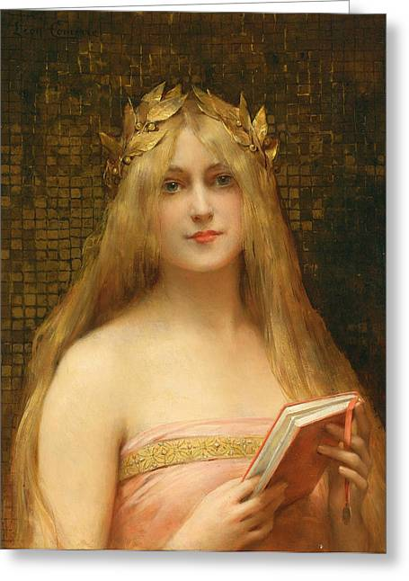 Francois Greeting Cards - A Classical Beauty Greeting Card by Leon Francois Comerre