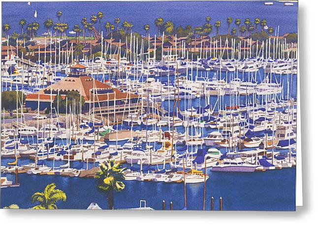 A Clear Day in San Diego Greeting Card by Mary Helmreich