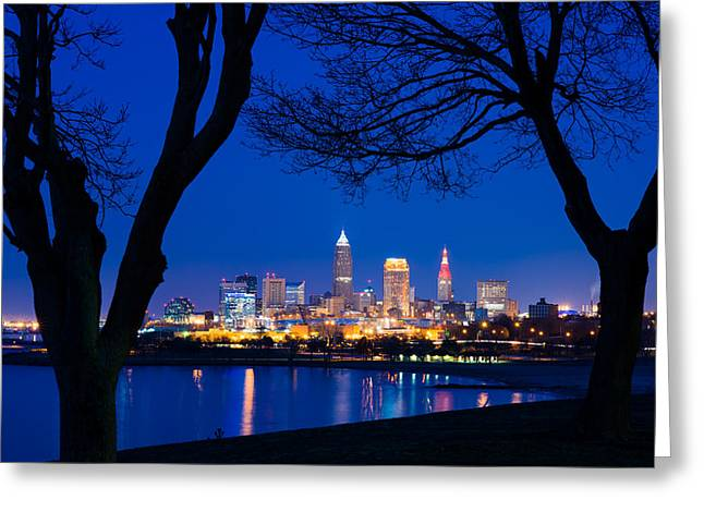 Cleveland Photographs Greeting Cards - A Cleveland Romance Greeting Card by Clint Buhler