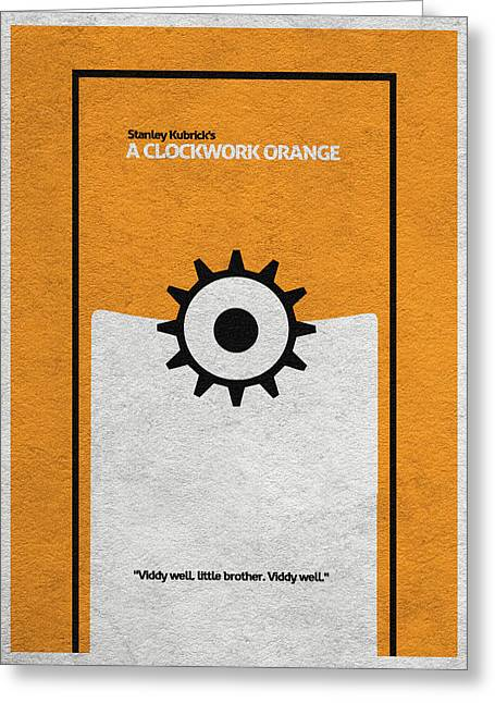 Clockwork Greeting Cards - A Clockwork Orange Greeting Card by Ayse Deniz