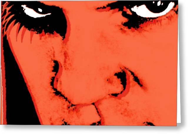 A Clockwork Orange Malcolm McDowell Greeting Card by Tony Rubino
