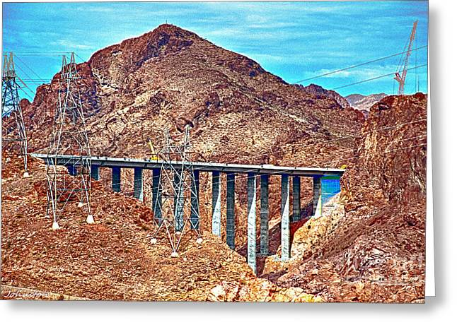 Generators Greeting Cards - A Closer Look at Pat Tillman Bridge Greeting Card by  Bob and Nadine Johnston