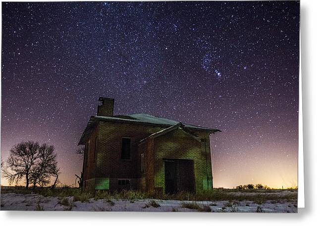 Dark Sky Greeting Cards - A cold dark place Greeting Card by Aaron J Groen