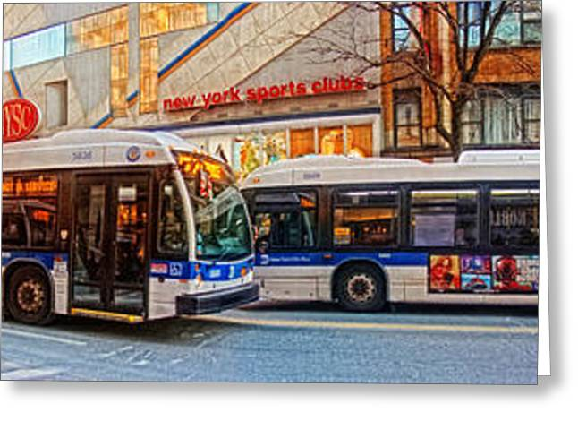 Sports Framed Photo Greeting Cards - A Cold Morning in Manhattan Greeting Card by Nishanth Gopinathan