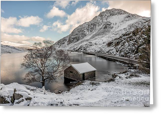 People Digital Art Greeting Cards - A Cold Start Greeting Card by Adrian Evans