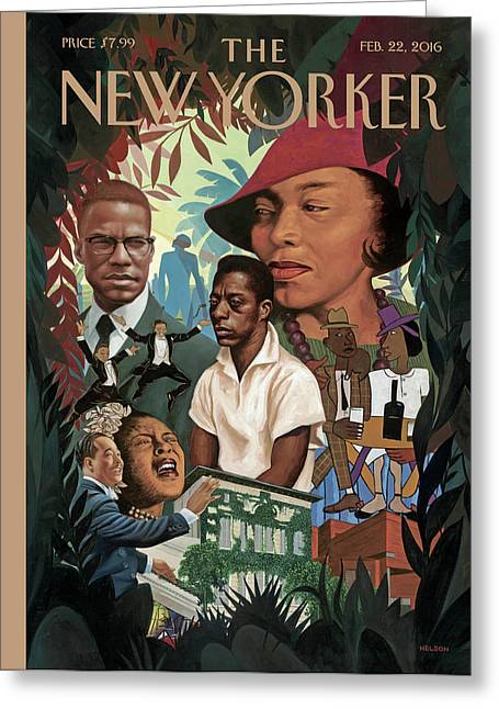 A Collage Of Famous African Americans Greeting Card by Kadir Nelson