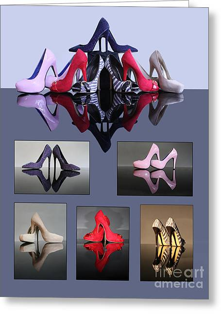 Terri Waters Greeting Cards - A collection of stiletto shoes Greeting Card by Terri  Waters
