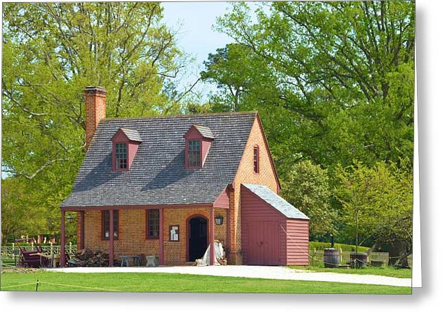 Founders Tree Greeting Cards - A colonial home Greeting Card by Richard Jenkins