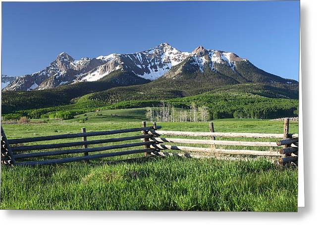 Mountain Road Greeting Cards - A Colorado Morning Greeting Card by Eric Glaser