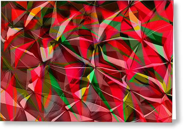 Abstract Shapes Greeting Cards - Colorful Shapes Blend Greeting Card by Kellice Swaggerty