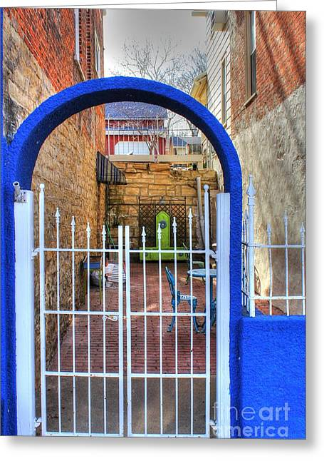 A Colorful Entrance Greeting Card by Jimmy Ostgard
