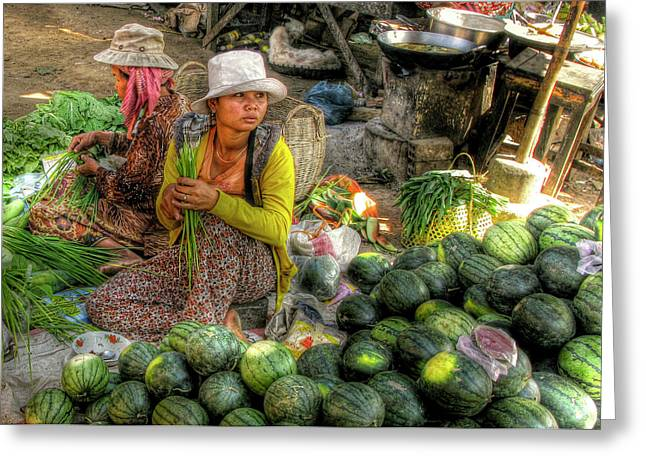 Watermelon Greeting Cards - A Contemplative Moment Greeting Card by Douglas J Fisher