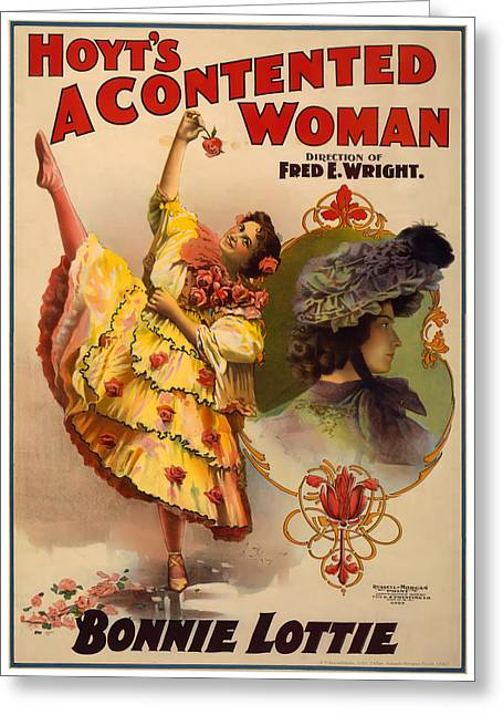 Broadway Greeting Cards - A Contented Woman Greeting Card by Terry Reynoldson