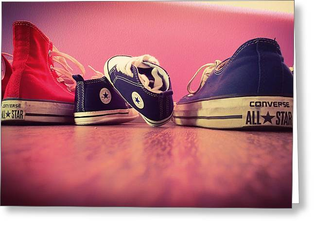 Sneaker Greeting Cards - A Converse Family Greeting Card by Mountain Dreams