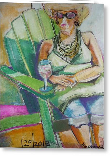 A Cool Drink Greeting Card by Suzanne Willis