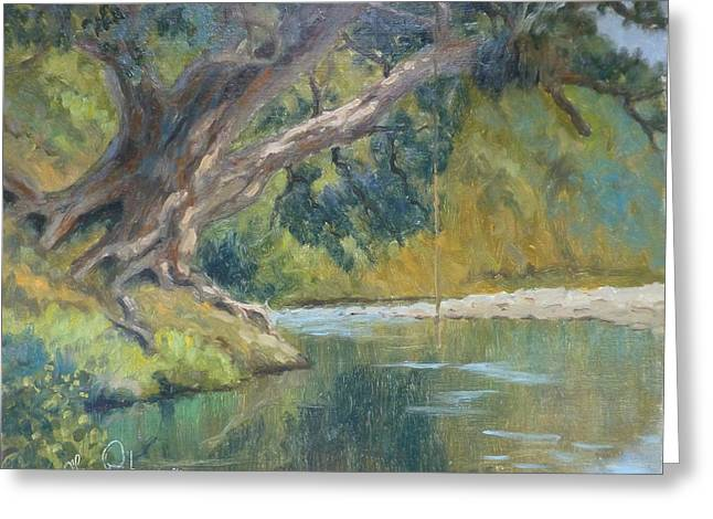 Terry Perham Paintings Greeting Cards - A Coramandel Stream Greeting Card by Terry Perham