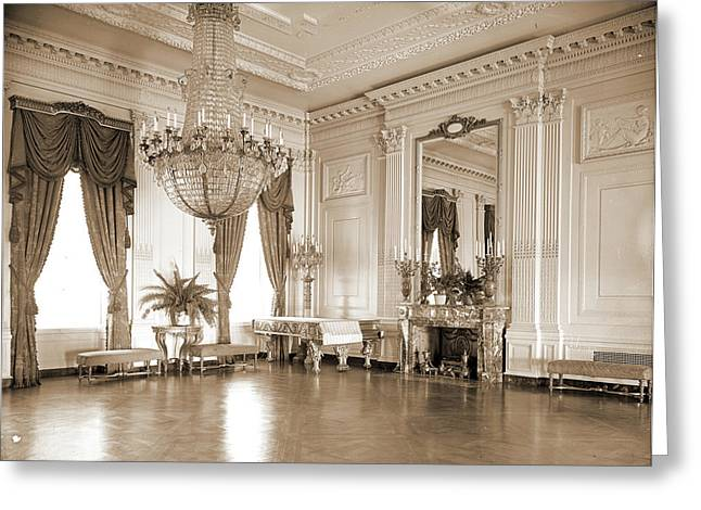 A Corner Of The East Room, White House, Official Residences Greeting Card by Litz Collection