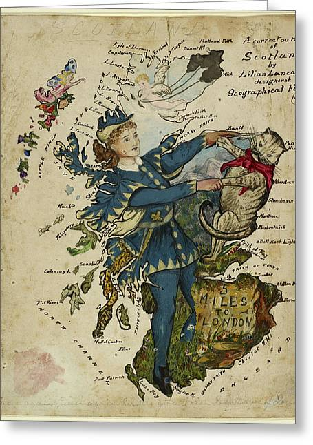 A Correct Outline Of Scotland Greeting Card by British Library