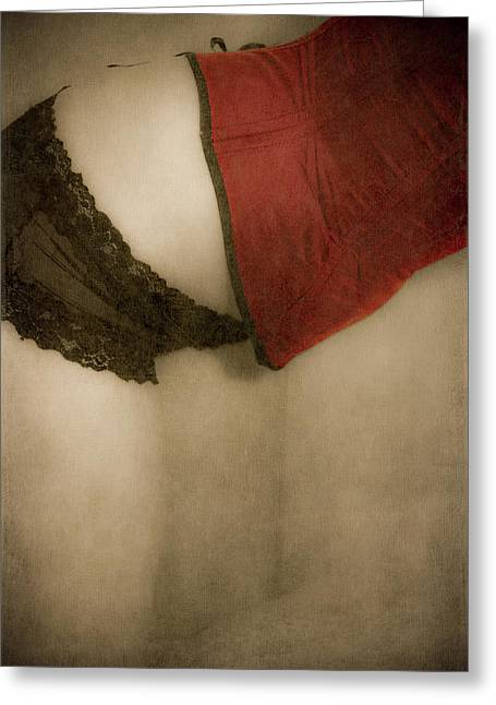 Bare Ass Greeting Cards - A Corset Story #02 Greeting Card by Loriental Photography