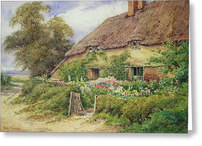 A Cottage At Hythe Greeting Card by Hetty Richards