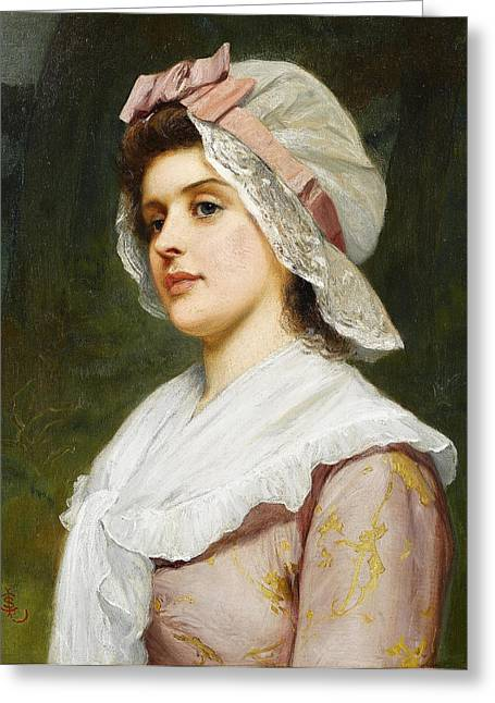 Charles Lidderdale Greeting Cards - A Country Maid Greeting Card by Charles Sillem Lidderdale