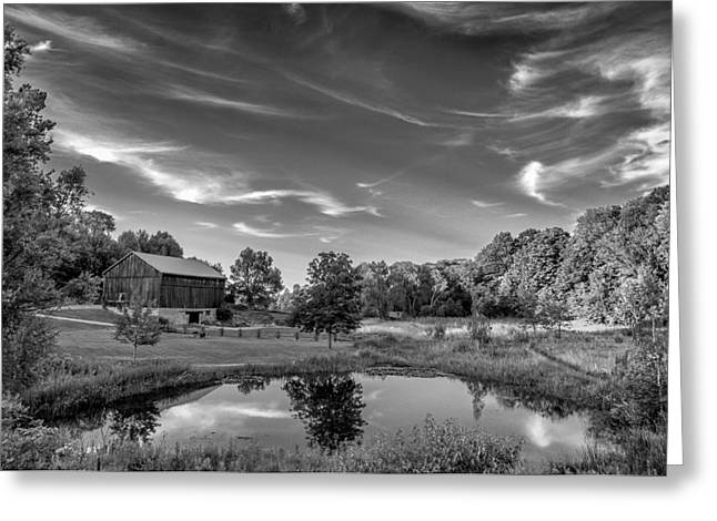 Ontario Landscape Print Greeting Cards - A Country Place bw Greeting Card by Steve Harrington