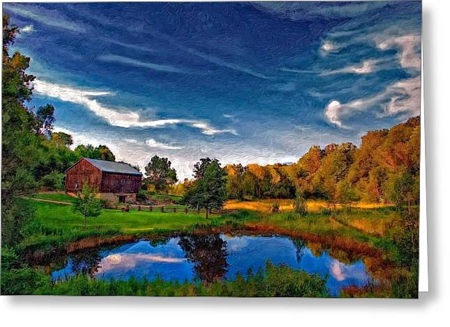 Ontario Landscape Print Greeting Cards - A Country Place painted version Greeting Card by Steve Harrington