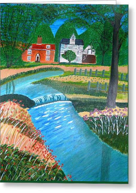Magdalena Frohnsdorff Greeting Cards - A Country Stream Greeting Card by Magdalena Frohnsdorff