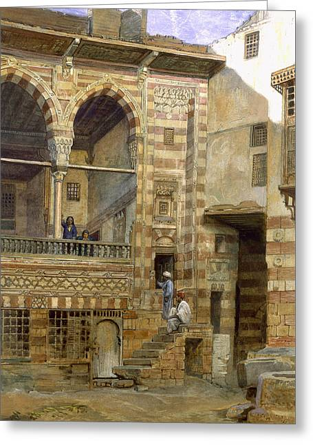 A Courtyard In Cairo Greeting Card by Frank Dillon
