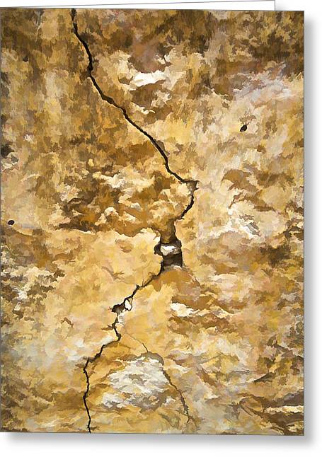 Run Down Greeting Cards - A Crack in the Wall Greeting Card by David Letts