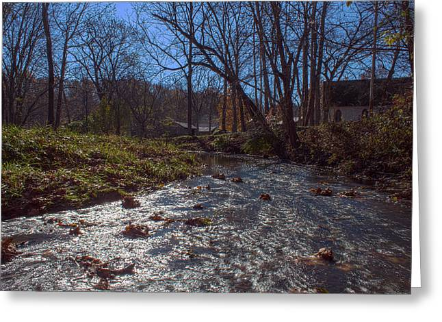 Billie Creek Village Greeting Cards - A Creek Runs Though It Greeting Card by Thomas Sellberg