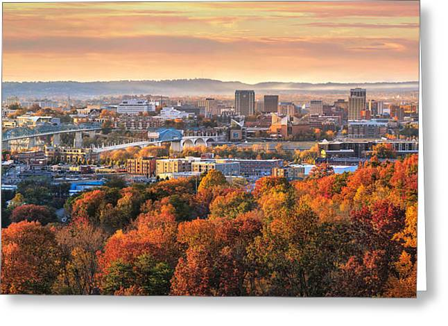 A Crisp Fall Morning In Chattanooga  Greeting Card by Steven Llorca