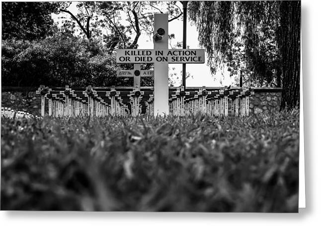 Urban Images Greeting Cards - A Cross and a Poppy for Everyone Greeting Card by Paul Donohoe