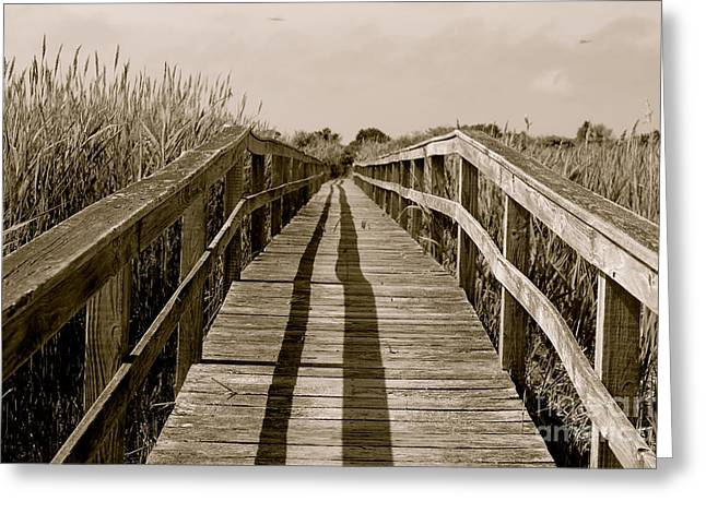 Crosswalk Greeting Cards - A Crosswalk in Black and White Greeting Card by Christy Gendalia