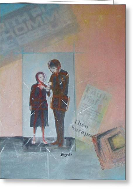 Edith Piaf Greeting Cards - A Cuoi Ca Sert Lmour or What Else Is There But Love Greeting Card by Elizabeth  Bogard