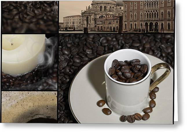Venice Greeting Cards - A Cup Of Coffee In Venice - Canal Grande - Elena Yakubovich Greeting Card by Elena Yakubovich